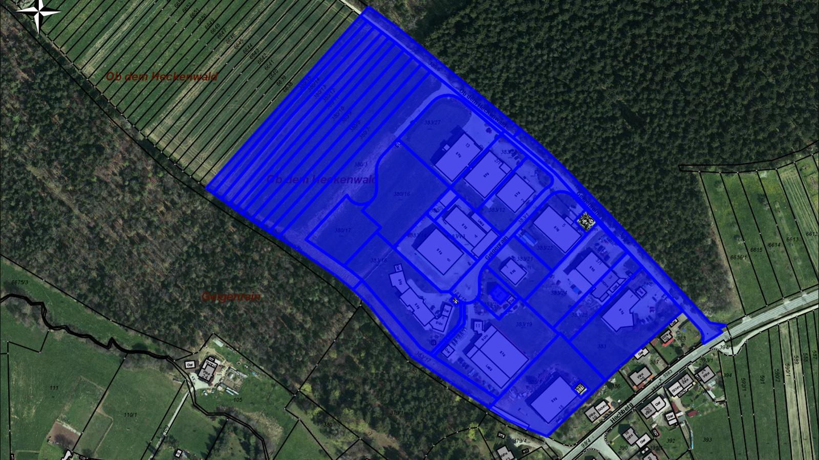 Lageplan Gewerbegebiet Ob Heckenwald