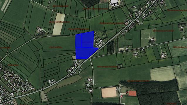 Lageplan Gewerbegebiet Ziegelhüttenweg